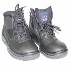 Mongrel Black Steel Cap Zipper Boot