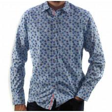 James Harper Long Sleeve Monsteria Shirt Front