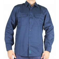 Prime Mover Cotton Drill Long Sleeve Shirt