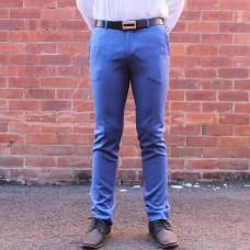 New England Code Bight Blue Wool Blend Trouser front