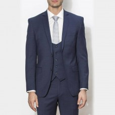 New England Code Navy Slim Suit Jacket