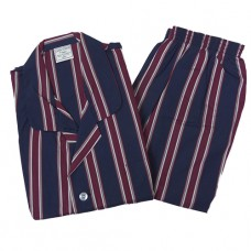 Koala 100% Cotton Satin Stripe Elastic Waist Short Leg, Short Sleeve Pyjamas