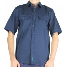 Prime Mover Cotton Drill Short Sleeve Shirt