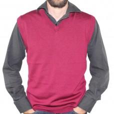Sovrano Merino Wool Vest Burgundy