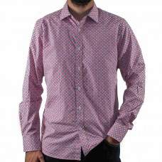 James Harper Long Sleeve Square Geo Shirt Front