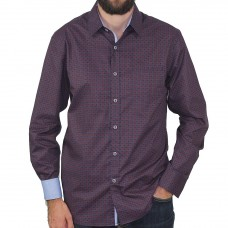 Berlin Long Sleeve Squares Dress Shirt