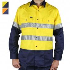 RM107V2R Ritemate 2 tone tape light weight long sleeve shirt