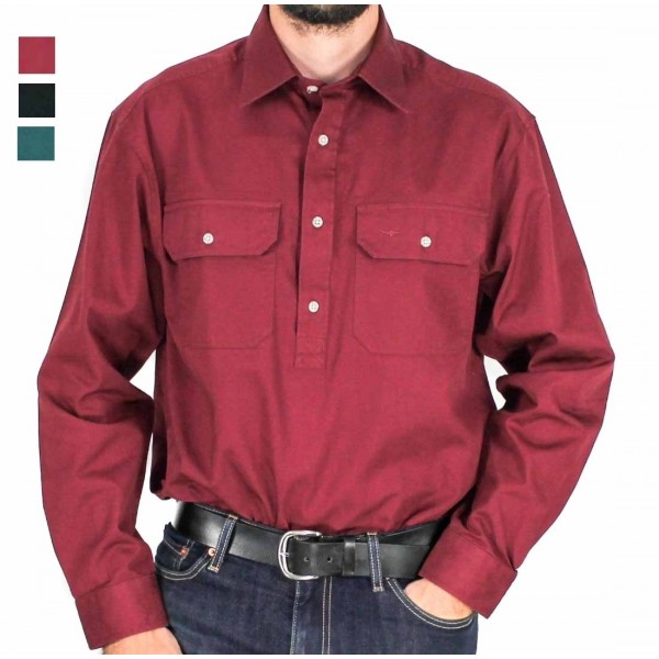 RM Williams Long Sleeve Longhorn Brigalow Shirt- Hero