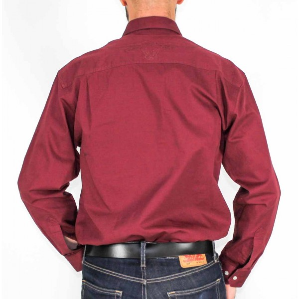 RM Williams Long Sleeve Longhorn Brigalow Shirt- Back