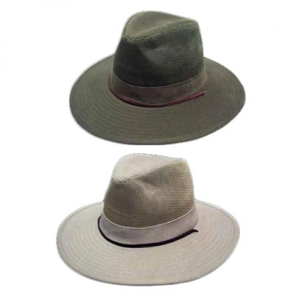 Avenel Of Melbourne Brushed Cotton Vent Crown Hat