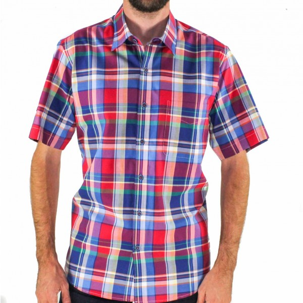 Ganton Checked Short Sleeve Shirt Front