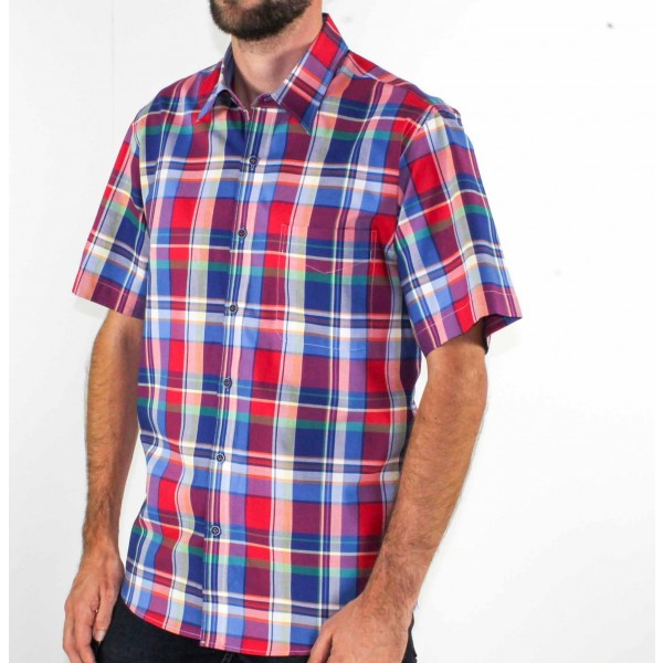 Ganton Checked Short Sleeve Shirt Side