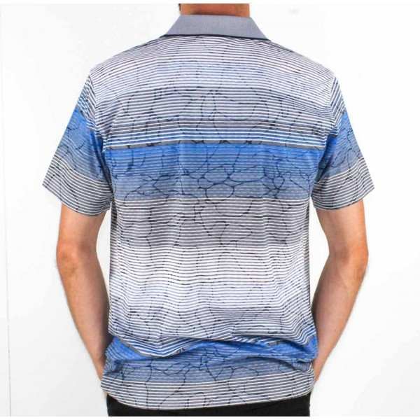 Label One Short Sleeve Printed Polo  Back