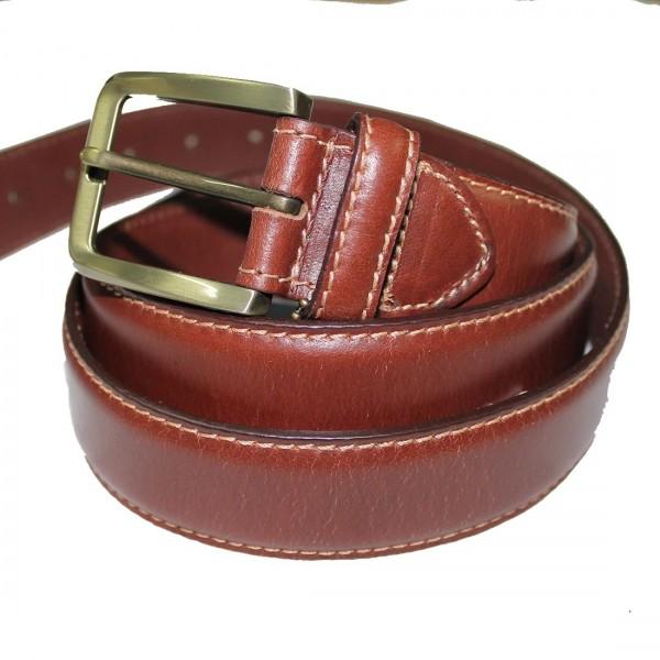 Marigold 38mm Leather Belt Tan