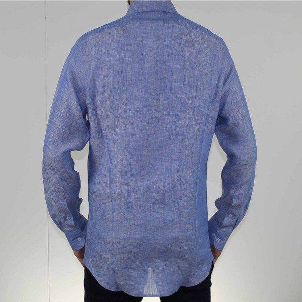 Abelard Long Sleeve Locapo Linen Shirt Back