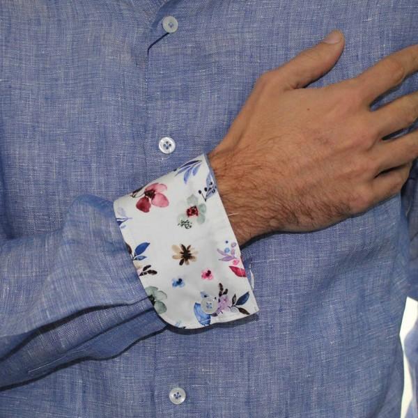 Abelard Long Sleeve Locapo Linen Shirt Cuff