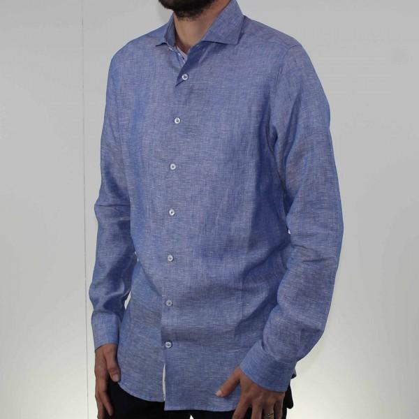 Abelard Long Sleeve Locapo Linen Shirt Side