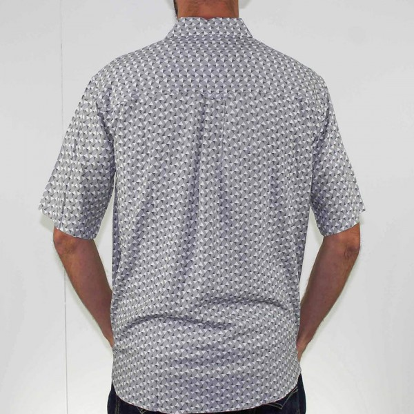 Breakaway Short Sleeve Akio Bamboo Shirt Back