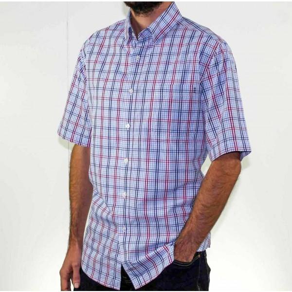 Breakaway Short Sleeve Ames Poplin Shirt Side