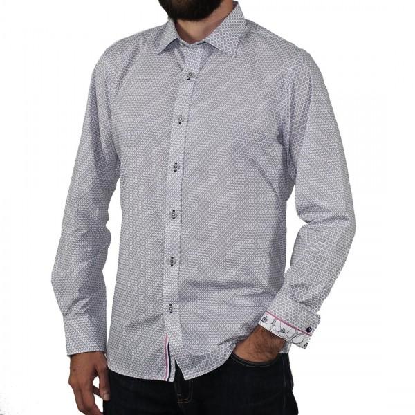 James Harper Long Sleeve Atkins Wave Geo Shirt