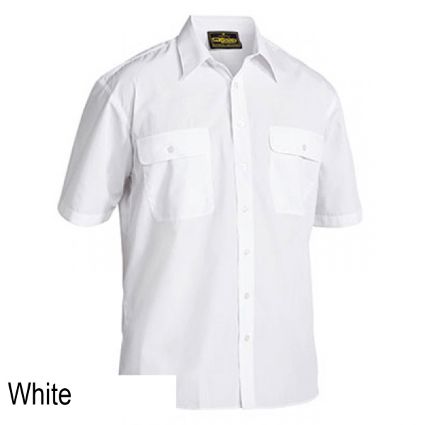 Bisley Permanent Press Short Sleeve Shirt White