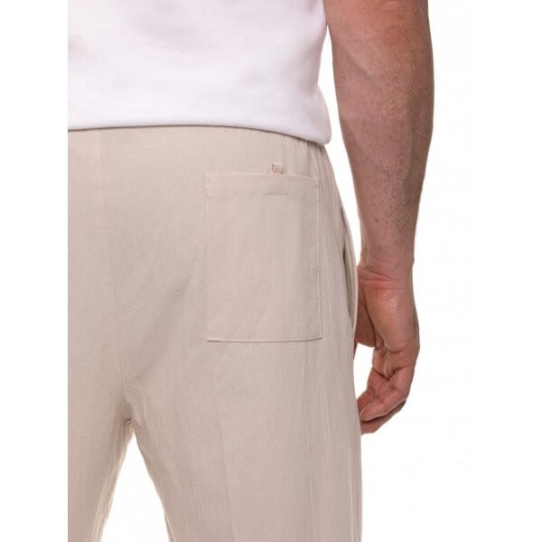 Breakaway Cotton Crinkle Pant beige Close Up
