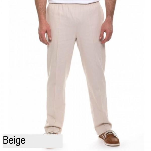 Breakaway Cotton Crinkle Pant beige front