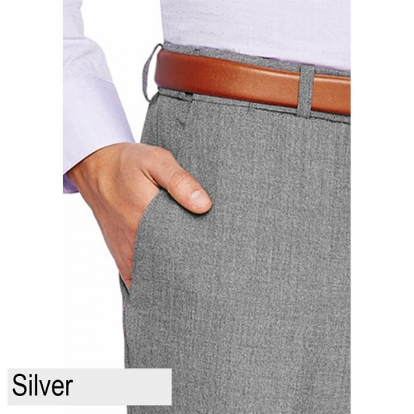 City Club Carter 183 Pant Silver Front Pocket