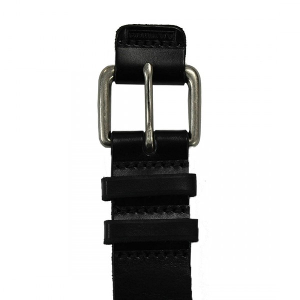 """RM. Williams Black 1 1/2"""" Covered Buckle Belt Buckle"""