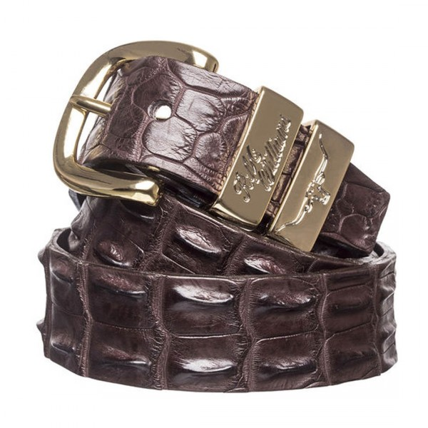 RM Willams CB660 Crocodile Belt Chestnut