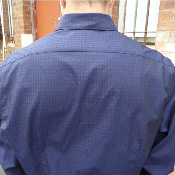 Carlo Cimino Navy Self Print Long Sleeve Shirt