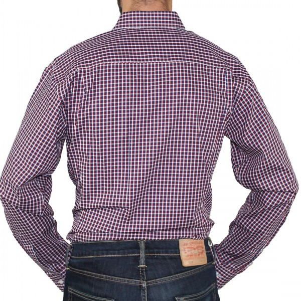 Bisley Long Sleeve Check Cotton Shirt Red