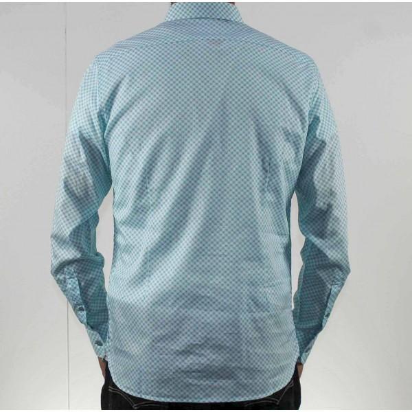 James Harper Long Sleeve Circle Geo Shirt Back