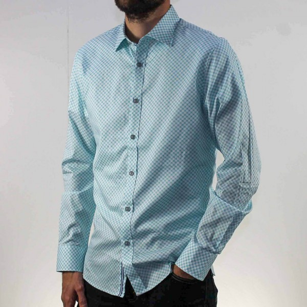 James Harper Long Sleeve Circle Geo Shirt Side