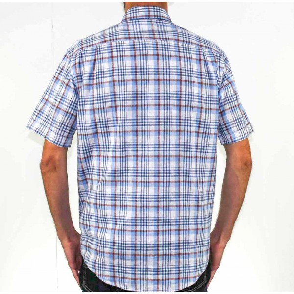 Back Bay Short Sleeve Cotton/Linen Shirt Back