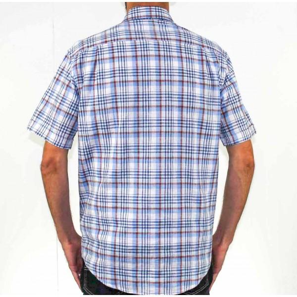 Back Bay Short Sleeve Cotton/Linen Shirt Back