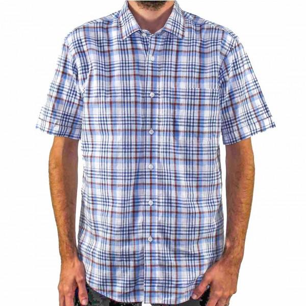 Back Bay Short Sleeve Cotton/Linen Shirt Front
