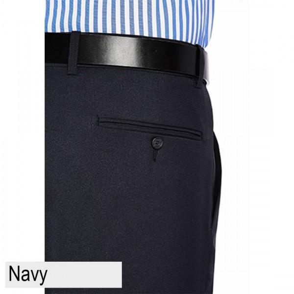 City Club Diplomat Coast Trouser Navy Back Pocket
