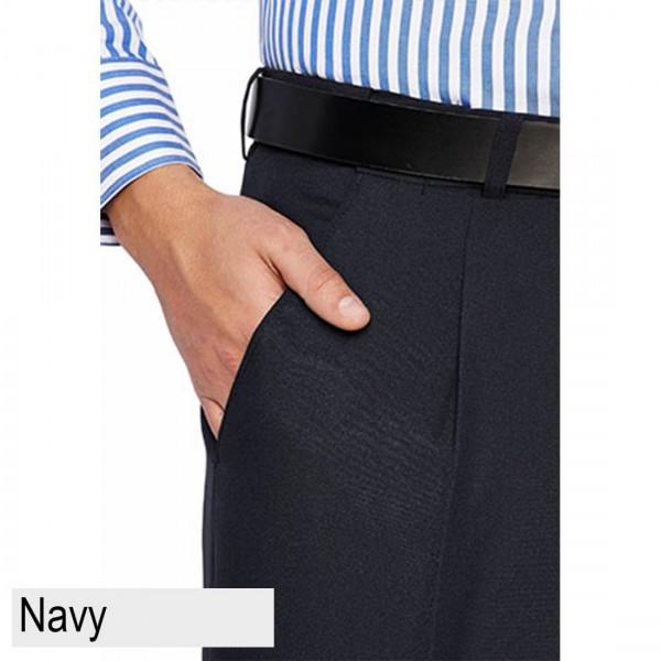 City Club Diplomat Coast Trouser Navy Front Pocket