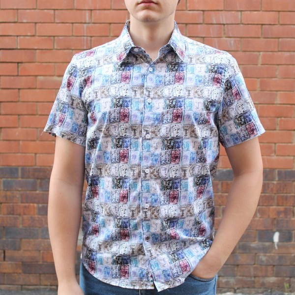 John Lennon By English Laundry Short Sleeve Chesil Print Shirt Front