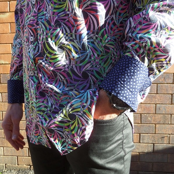 David Smith Tropical Swirl Long Sleeve Shirt
