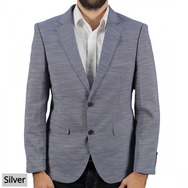 A.K.Demire Fashion Blazer Silver Front