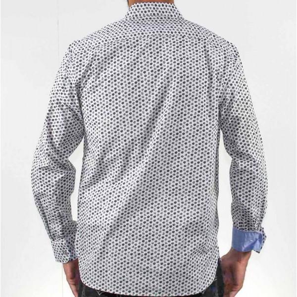 Berlin Long Sleeve Floral Print Shirt Back