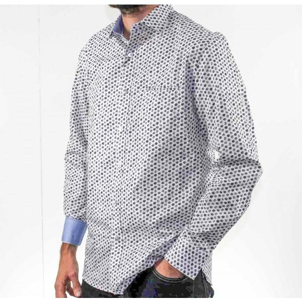 Berlin Long Sleeve Floral Print Shirt Side