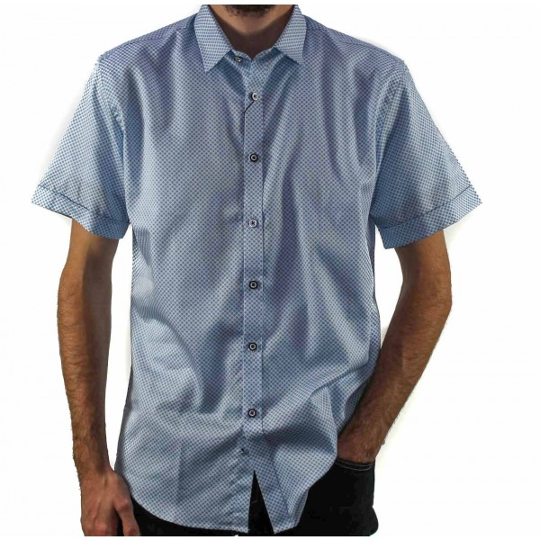 AK Demire Short Sleeve Floral Shirt Front