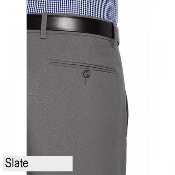 City Club Fraser Coast Trouser Slate Back Pocket