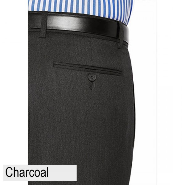 City Club Fraser Ellis Pant Charcoal Back Pocket