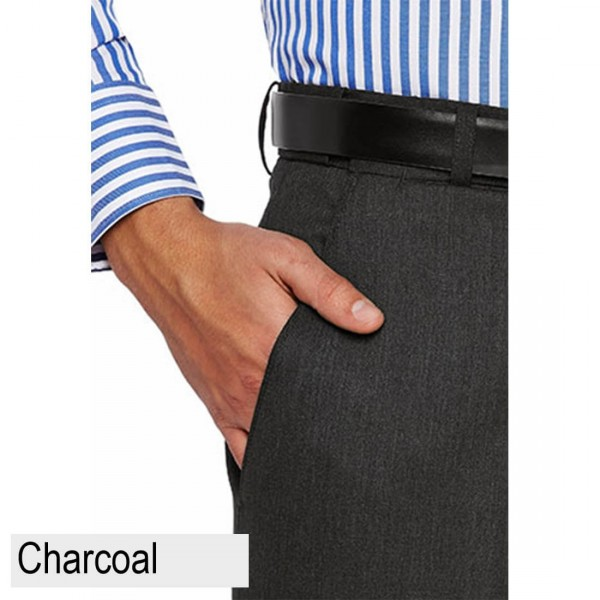 City Club Fraser Ellis Pant Charcoal Front Pocket