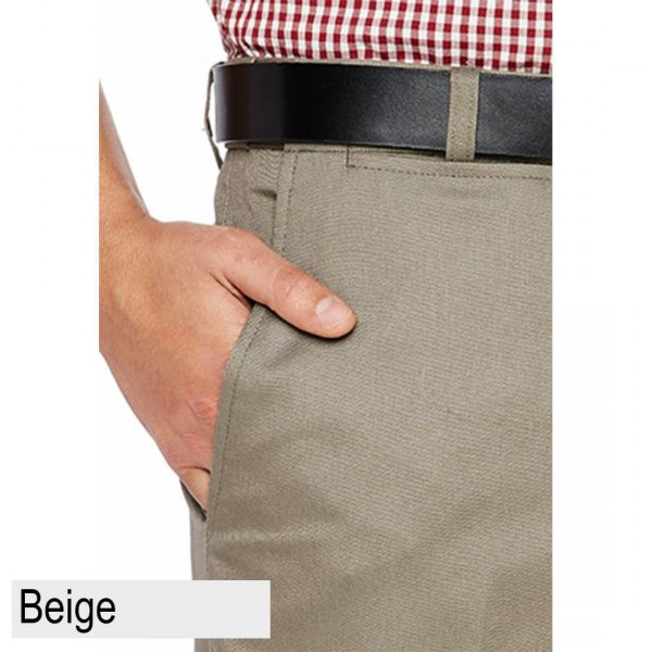 City Club Fremantle Flex Short Beige Front Pocket