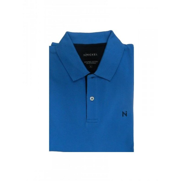 Nickel Pima Polo Shirt Royal